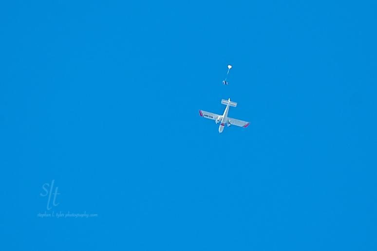 Skydiver at the 18th Philippine International Hot Air Balloon Fiesta, Clark Air Field